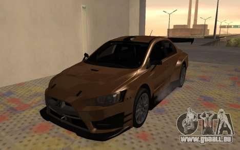 Mitsubishi Lancer Evolution X für GTA San Andreas Rückansicht