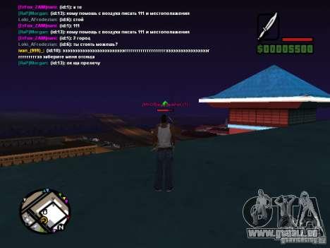 Couteau de CLEO pour GTA San Andreas deuxième écran