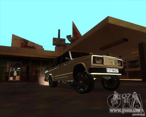 VAZ 2107 Azeri Style pour GTA San Andreas vue arrière