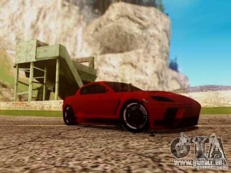 Mazda RX8 Reventon für GTA San Andreas zurück linke Ansicht