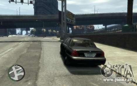 Crown Victoria pour GTA 4 Vue arrière de la gauche