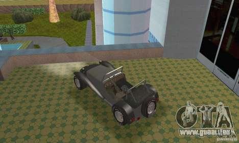 Lotus Seven pour GTA San Andreas sur la vue arrière gauche