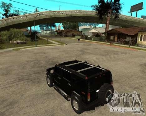 AMG H2 HUMMER SUV FBI pour GTA San Andreas laissé vue