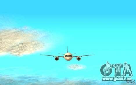 Boeing 757-200 für GTA San Andreas zurück linke Ansicht