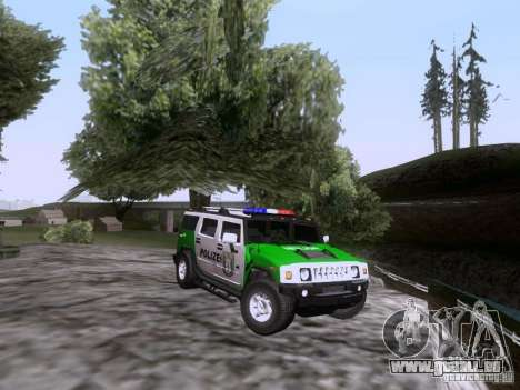 Hummer H2 Polizei pour GTA San Andreas