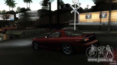 Mazda RX-7 FD 1991 pour GTA San Andreas vue intérieure