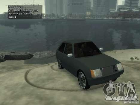 ZAZ Tavria 1102 pour GTA 4 Vue arrière de la gauche