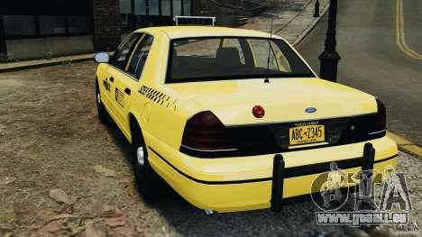Ford Crown Victoria NYC Taxi 2004 pour GTA 4 Vue arrière de la gauche