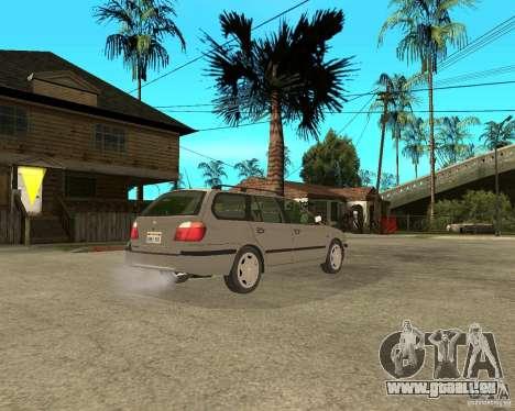 Nissan Primera Traveller P11 für GTA San Andreas zurück linke Ansicht