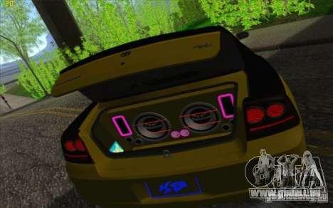 Dodge Charger SRT 8 pour GTA San Andreas vue de dessus