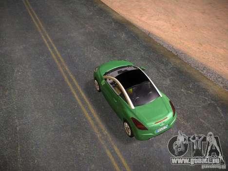 Peugeot RCZ 2010 pour GTA San Andreas sur la vue arrière gauche