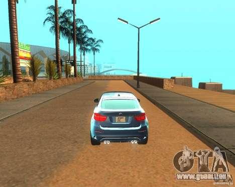 BMW Motorsport X6 M v. 2.0 pour GTA San Andreas vue de droite