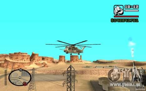 Sikorsky MH-53 avec trappe fermée pour GTA San Andreas laissé vue