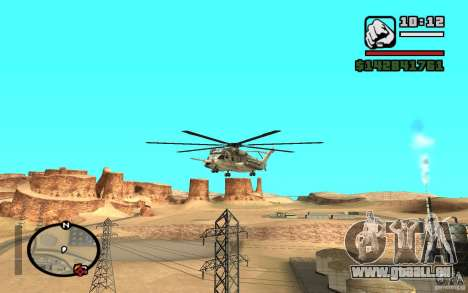 Sikorsky MH-53 mit geschlossenen Luke für GTA San Andreas linke Ansicht