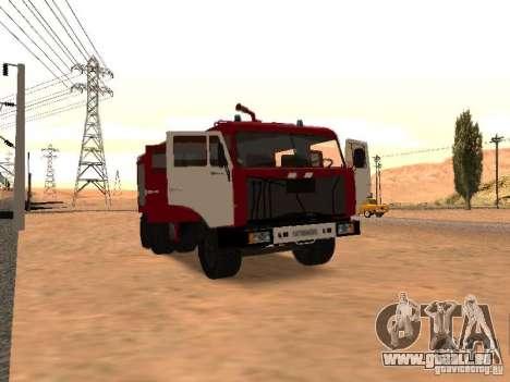 KAMAZ 53229 pompier pour GTA San Andreas sur la vue arrière gauche