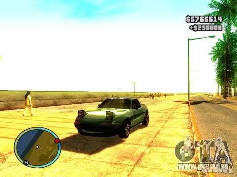 Mazda Miata 1994 für GTA San Andreas linke Ansicht