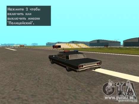 Police Savanna pour GTA San Andreas laissé vue