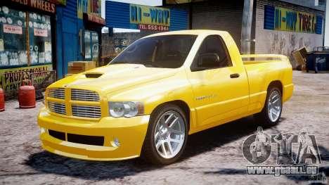 Dodge Ram SRT-10 2003 1.0 für GTA 4 Rückansicht