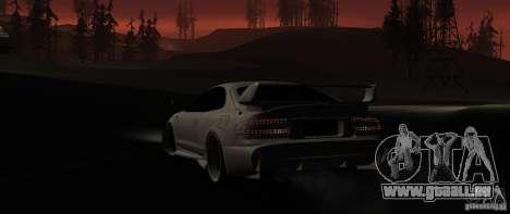 Toyota Celica 1993 Light tuning pour GTA San Andreas sur la vue arrière gauche