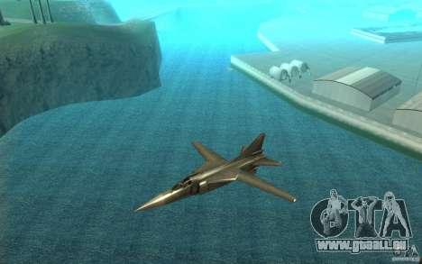 MiG-23 nach unten der Flogger für GTA San Andreas