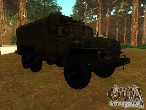 Ural Kung 4320 pour GTA San Andreas vue intérieure