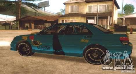 Subaru Impreza WRX STI Futou Battle für GTA San Andreas Rückansicht