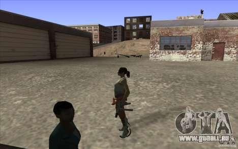 Chell from Portal 2 pour GTA San Andreas troisième écran