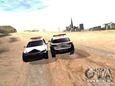 Lexus CT200H Japanese Police für GTA San Andreas Unteransicht