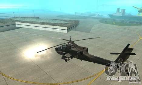 Ein-64 Apache für GTA San Andreas Rückansicht