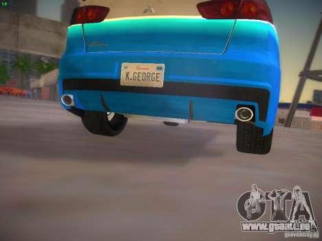 Mitsubishi Lancer Evo X Tunable für GTA San Andreas Innen