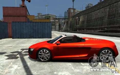 Audi R8 Spyder 5.2 FSI Quattro V4 [EPM] pour GTA 4 Vue arrière