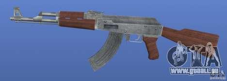 AK47 Retex 1.1 Chrome pour GTA 4 troisième écran