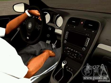 Volkswagen Golf R 2010 für GTA San Andreas Rückansicht