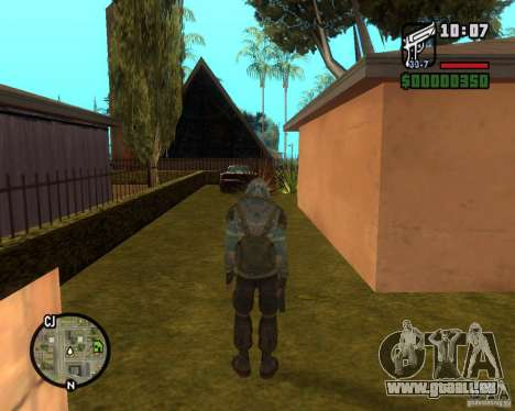 Ciel clair Stalker de pour GTA San Andreas troisième écran
