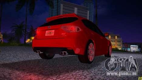 Subaru Impreza WRX STI (GRB) - LHD pour une vue GTA Vice City de la droite