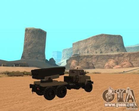 KrAZ-63211 JAMZ c. 1 pour GTA San Andreas vue de droite
