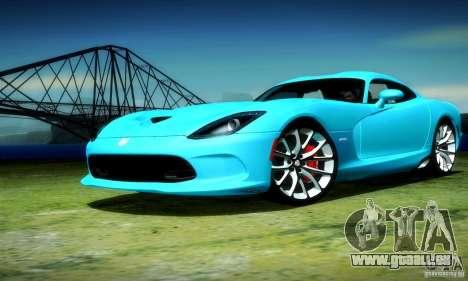Dodge Viper SRT  GTS für GTA San Andreas Rückansicht