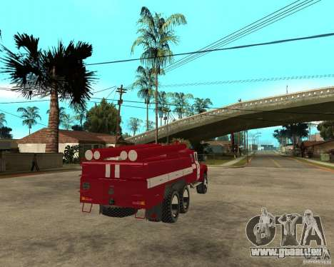 ZIL 133GÂ AC Feuer für GTA San Andreas zurück linke Ansicht