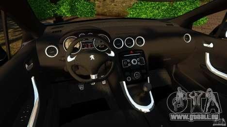 Peugeot 308 2007 pour GTA 4 Vue arrière