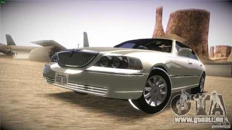 Lincoln Towncar 2010 pour GTA San Andreas laissé vue