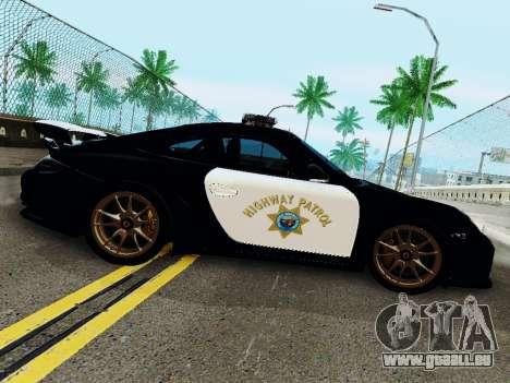 Porsche 911 GT2 RS (997) Police pour GTA San Andreas sur la vue arrière gauche