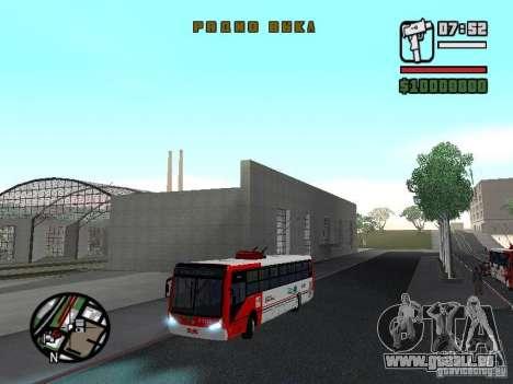 Caio Millennium TroleBus pour GTA San Andreas vue de côté