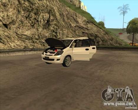 Toyota Innova für GTA San Andreas Seitenansicht