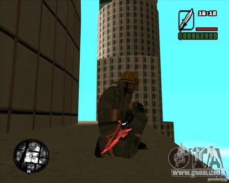 Chrome black red gun pack pour GTA San Andreas cinquième écran