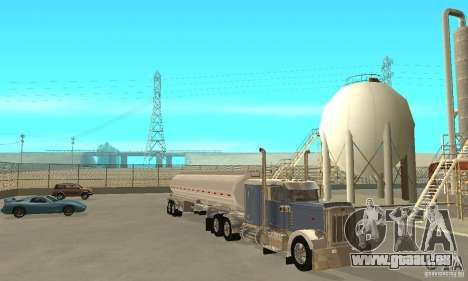 Peterbilt 379 Custom And Tanker Trailer pour GTA San Andreas