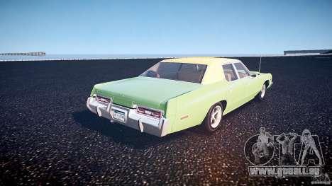 Dodge Monaco 1974 pour GTA 4 Vue arrière de la gauche