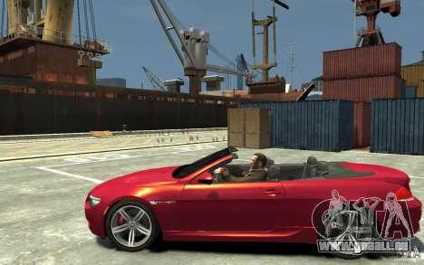 BMW M6 Convertible pour GTA 4 est une gauche