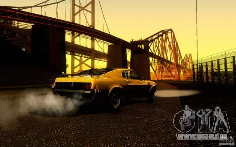 Ford Mustang Boss 302 pour GTA San Andreas vue intérieure