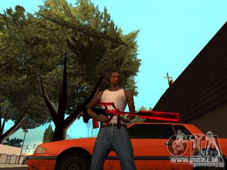 Red Chrome Weapon Pack pour GTA San Andreas huitième écran