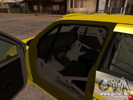 Suzuki Swift Rally für GTA San Andreas Innenansicht